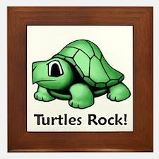 Turtles Rock! Framed Tile