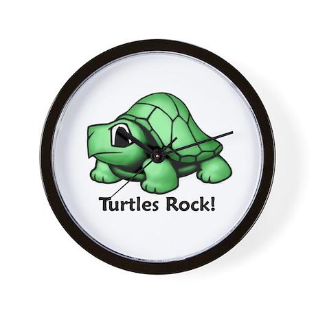 Turtles Rock! Wall Clock
