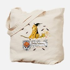 Halloween Airedale Terrier Tote Bag