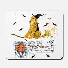 Halloween Airedale Terrier Mousepad