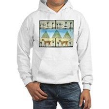 Greyhound illustration Hoodie Sweatshirt