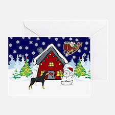 Cute Doberman Christmas Greeting Card