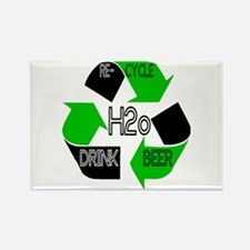 Recycle Water DRINK BEER Rectangle Magnet