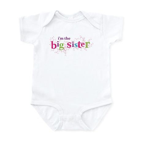 i'm the big sister shirt scatter Infant Bodysuit