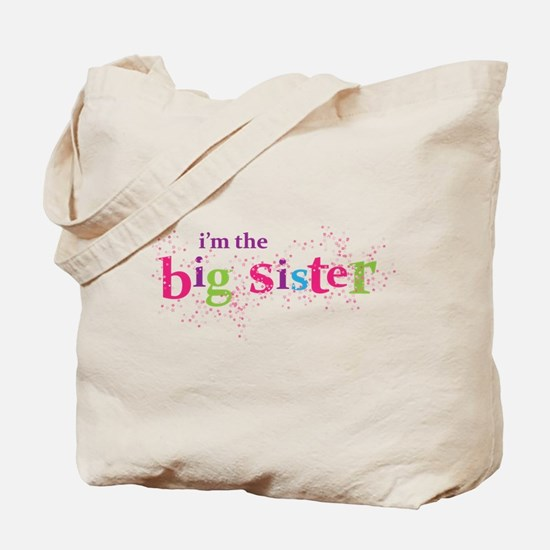 i'm the big sister shirt scatter Tote Bag