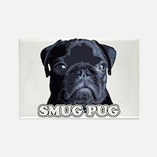 Smug Pug! Rectangle Magnet