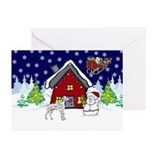 Cute Dalmatian Christmas Greeting Cards (Pk of 20)