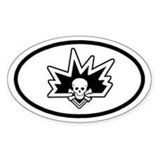 Bomb Squad Perk Oval Sticker with border