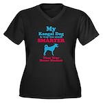 Kangal Dog Women's Plus Size V-Neck Dark T-Shirt