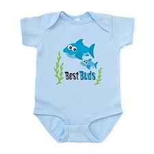 Best Buds Sharks Infant Bodysuit