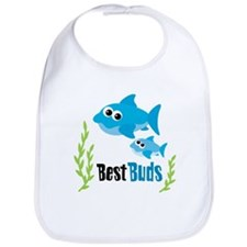 Best Buds Sharks Bib