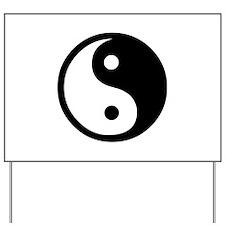 Black and White Yin Yang Bala Yard Sign
