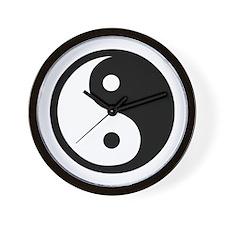 Black and White Yin Yang Bala Wall Clock