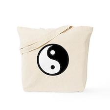 Black and White Yin Yang Bala Tote Bag