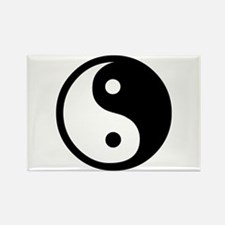 Black and White Yin Yang Bala Rectangle Magnet (10