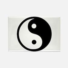 Black and White Yin Yang Bala Rectangle Magnet