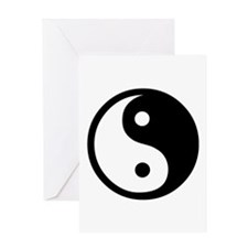 Black and White Yin Yang Bala Greeting Card