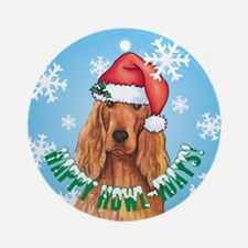 Holiday Irish Setter Ornament (Round)