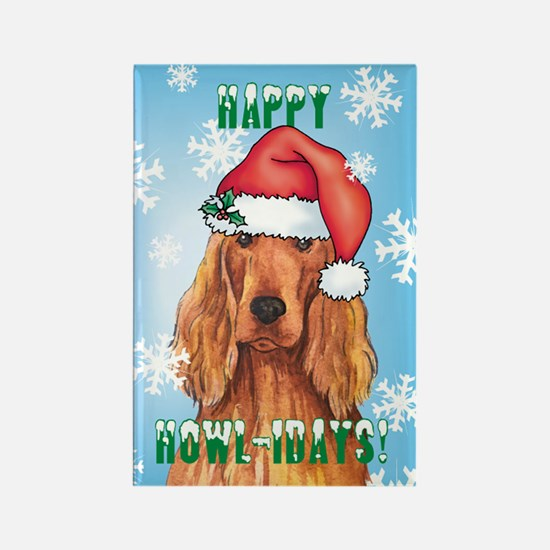 Holiday Irish Setter Rectangle Magnet