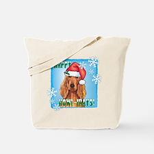 Holiday Irish Setter Tote Bag