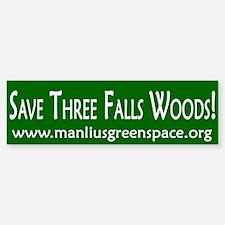 Save Three Falls Woods Bumper Car Car Sticker