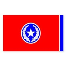 City of Chattanooga Flag Rectangle Decal