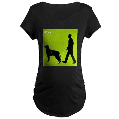 Irish Wolfhound Maternity Dark T-Shirt