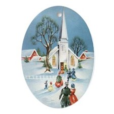 Classic Church Oval Ornament