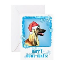 Holiday Afghan Hound Greeting Card