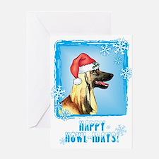 Holiday Afghan Hound Greeting Card