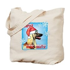 Holiday Afghan Hound Tote Bag