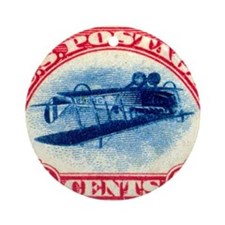 Inverted Jenny Ornament (Round)