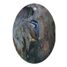 Red-Breasted Nuthatch Oval Ornament
