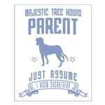 Majestic Tree Hound Small Poster