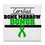 Certified Bone Marrow Donor Tile Coaster