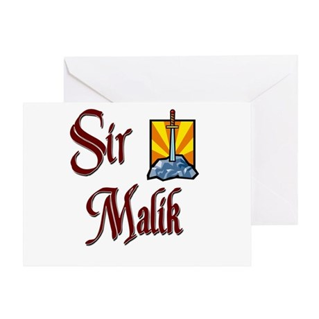 Sir Malik Greeting Card