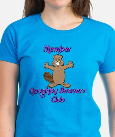 Naughty Beavers Club Women's Dark T-Shirt