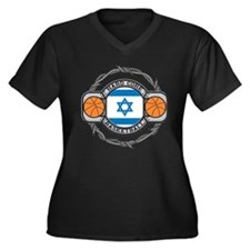 Israel Basketball Women's Plus Size V-Neck Dark T-