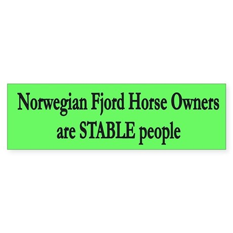 Stable People Fjord Horse Sticker