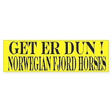 Get er Dun Yellow Fjord Horse Bumper Sticker