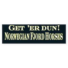 Get er dun blk Fjord Horse Bumper Sticker