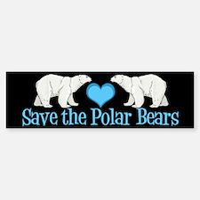 Save the Polar Bears Bumper Bumper Sticker