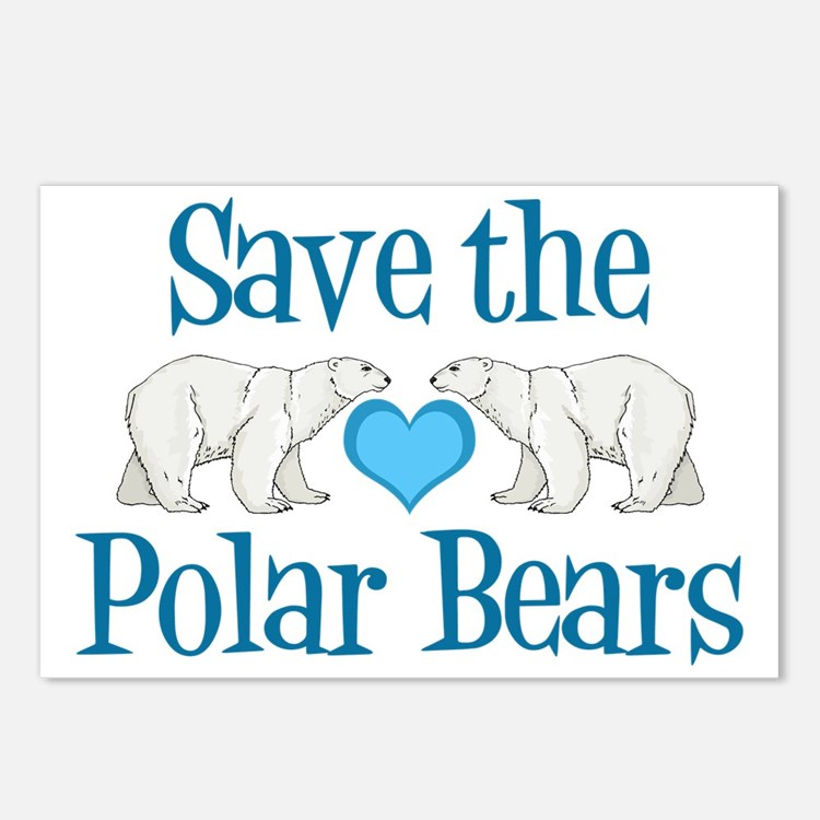 Save the Polar Bears Postcards (Package of 8)
