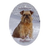Brussels griffon Oval Ornaments