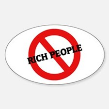 Anti-Rich People Oval Decal