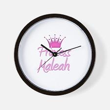 Princess Maleah Wall Clock