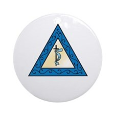 OES Adah Ornament (Round)