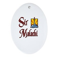 Sir Malachi Oval Ornament