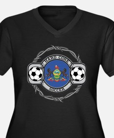 Pennsylvania Soccer Women's Plus Size V-Neck Dark