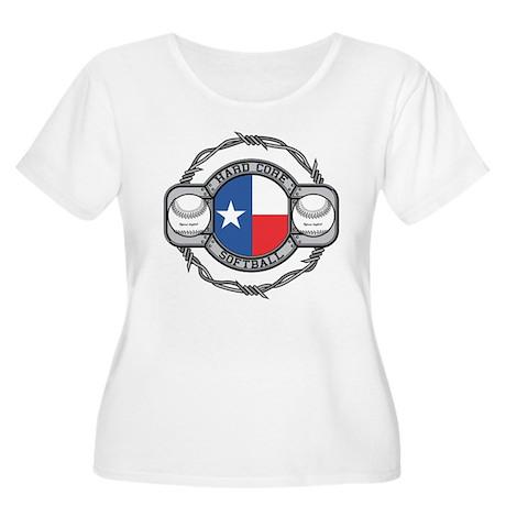 Texas Softball Women's Plus Size Scoop Neck T-Shir